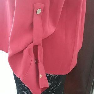 Susan Graver Jackets & Coats - Hot Pink Blouse Jacket